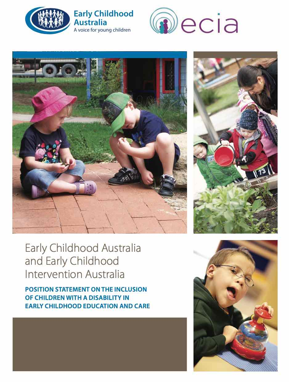 Early Childhood Australia and ECIA Joint Statement