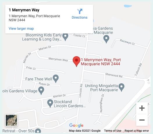 Merryman Way Map