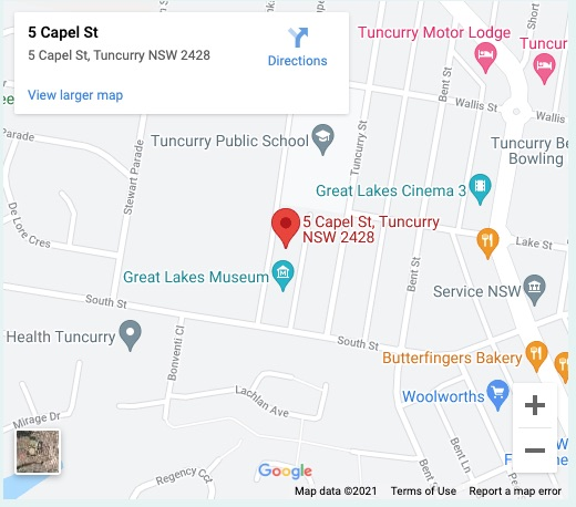 Tuncurry Map